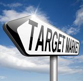 stock photo of niche  - target market business targeting for niche marketing strategy  - JPG