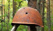 Military helmet poster
