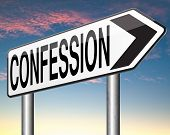 stock photo of repentance  - confession plea guilty as charged and confess crime testimony or proof truth  - JPG