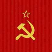 image of communist symbol  - USSR Flag Symbol abstract vector illustration background - JPG