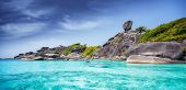 foto of sea-scape  - Tropical beach Similan Islands Andaman Sea Thailand - JPG