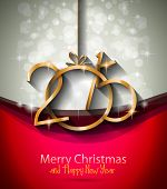 stock photo of xmas star  - 2015 New Year and Happy Christmas background for your flyers - JPG