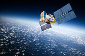 picture of orbital  - Space satellite orbiting the earth - JPG