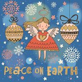 stock photo of christmas angel  - Peace on earth - JPG