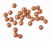 image of foreshortening  - Multiple chocolate ball candies composition - JPG