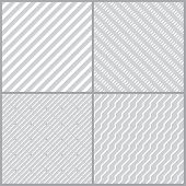 pic of line  - Set of simple geometric seamless patterns with diagonal lines - JPG