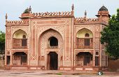 picture of mughal  - Entrance of the Tomb of I timad ud Daulah in Agra Uttar Pradesh India a Mughal mausoleum often described as the Baby Taj or jewel box - JPG
