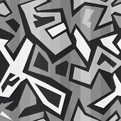 picture of graffiti  - monochrome graffiti seamless  - JPG