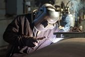 pic of welding  - Manual metal arc welding element of the apparatus of the petrochemical industry