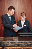 picture of receptionist  - Reception at work - JPG