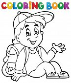 picture of pupils  - Coloring book pupil theme 4  - JPG