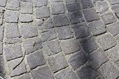picture of porphyry  - pavement made of basalt volcanic rock close up - JPG