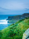 foto of cliffs moher  - Famous cliffs of Moher in Co - JPG