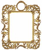 picture of cherub  - Cherub Gold Picture Frame Isolated on White - JPG