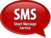pic of sms  - Speech bubble illustration of information technology acronym abbreviation term definition SMS Short Message Service - JPG