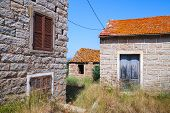 foto of stone house  - Figari South Corsica rural architecture example - JPG
