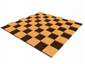 picture of chessboard  - isolateed textured wooden chessboard colored in brown - JPG