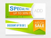 image of indian independence day  - Mega Sale website header or banner with discount offer for Indian Independence Day celebration - JPG