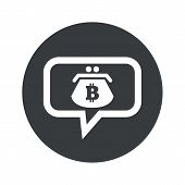stock photo of bitcoin  - Purse with bitcoin symbol in chat bubble - JPG