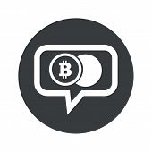 pic of bitcoin  - Coin with bitcoin symbol in chat bubble - JPG