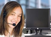 foto of telephone operator  - business woman smiling - JPG