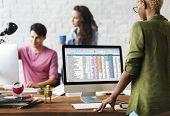 Data Analytics Statistics Technology Information Concept poster