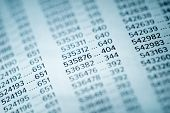 Financial Data Concept with Numbers, Spreadsheet Bank Accounts Accounting, Financial Fraud Investiga poster