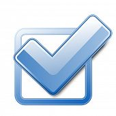 pic of check mark  - Blue check box with check mark - JPG