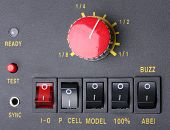 stock photo of potentiometer  - Control panel of Studio flash - JPG
