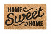 Home Sweet Home Welcome Mat Isolated on a White Background. poster