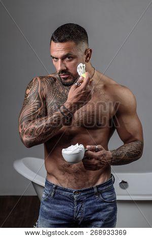 Barber Shop Concept Bearded Stylish