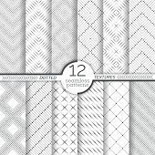 Set Of Dotted Seamless Patterns. Abstract Lace Background. Modern Small Dotted Texture With Regularl poster