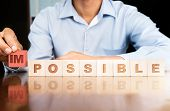 Impossible To Possible Letters. poster