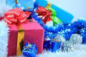 Постер, плакат: Рождественский подарок коробки с рождественские украшения