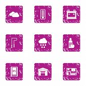 Movement Icons Set. Grunge Set Of 9 Movement Vector Icons For Web Isolated On White Background poster
