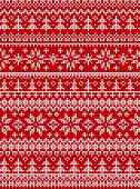 Ugly Sweater Merry Christmas New Year Knitted Background Seamless Pattern poster