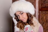Winter Woman Portrait. Beauty Model Girl. Fur Fashion. Beautiful Girl In Fur Hat.fashion Portrait Of poster