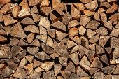 Firewood For Firewood, Background Of Dry Chopped Firewood Logs In A Pile poster