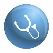 Stethoscope Thermometer Icon. Simple Illustration Of Stethoscope Thermometer Vector Icon For Web Des poster