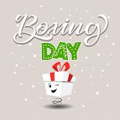 Boxing Day Banner, Symbol Or Icons. Lettering Design Of Boxing Day Sale. Vector Illustration. Eps 10 poster
