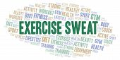 Exercise Sweat Word Cloud. Wordcloud Made With Text Only. poster