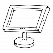 Monitor Icon. Vector Illustration Of A Monitor. Hand Drawn Computer Monitor.  Lcd Monitor. poster