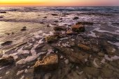 Magnificent Seascape During Sunrise. Beautiful Natural Seascape. poster