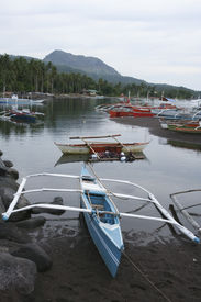 image of camiguin  - coastal fishing village on camiguin island mindanao the philippines