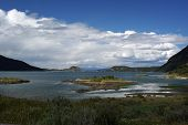 stock photo of tierra  - Landscape in the Tierra del Fuego national park - JPG