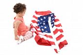 Child And Us Flag