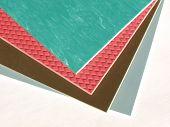 picture of linoleum  - Coloured rubber or linoleum floor tiles sampler - JPG
