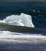 picture of growler  - segment of glacier ice in the sea - JPG