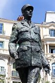 stock photo of charles de gaulle  - Sculpture of  Charles De Gaulle in City of Nice  - JPG