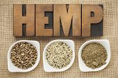 stock photo of ceramic bowl  - hemp products - JPG